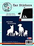 its all good sticker - Enjoy It Dog is Good Welcome Diversity Car Sticker, Outdoor Rated Vinyl Sticker Decal for Windows, Bumpers, Laptops or Crafts