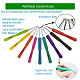 New Set of 47 Ergonomic Crochet Hooks Set w Rubbery