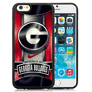 Fashionable iPhone 6 4.7 Inch TPU Case ,Unique And Lovely Designed Case With Georgia Bulldogs 02 Black iPhone 6 Cover Phone Case