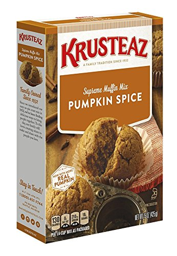 - Krusteaz Pumpkin Spice Supreme Muffin Mix, 15-Ounce Boxes (Pack of 12)
