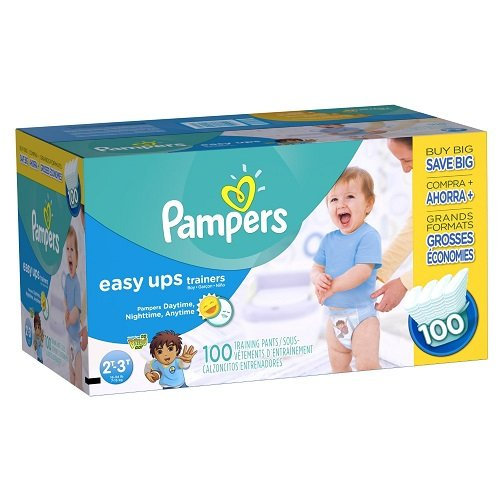 Large Product Image of Pampers Easy Ups Training Pants Pull On Disposable Diapers for Boys