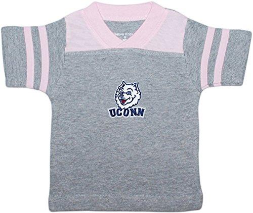 (Creative Knitwear University of Connecticut UCONN Huskies Baby Sport Shirt Pink)
