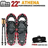 "New MTN Man Woman Kid Youth 22"" Red Snowshoes + Free Bag"