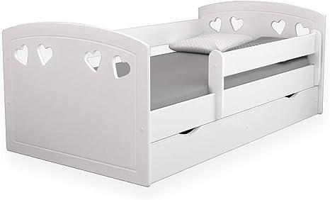 Cama infantil juvenil de Kocot Kids, 80 x 140 cm, 80 x 160 cm, 80 x 180 cm, con protección anticaídas, con cajón y somier, para niños y niñas