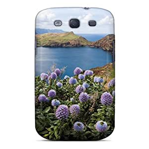 Tpu Fashionable Design Purple Macro Flower Rugged Case Cover For Galaxy S3 New