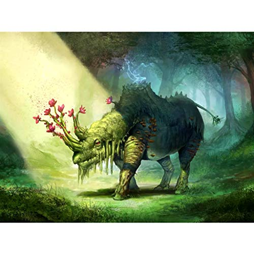 (Chenway 5D DIY Diamond Painting Adult by Number Kits Full Drill Wolf & Monster Cross Stitch Rhinestone Embroidery Paintings Pictures for Home Decoration 40x30cm)