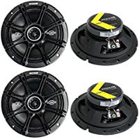 4) Kicker 41DSC674 D-Series 6.75 480W 2-Way 4-Ohm Car Audio Coaxial Speakers