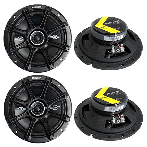 4) Kicker 41DSC674 D-Series 6.75″ 480W 2-Way 4-Ohm Car Audio Coaxial Speakers