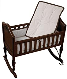 Baby Doll Bedding Minky Diamond Cradle Bedding Set, Chocolate