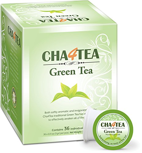 Cha4TEA 36-Count Green Tea K Cups for Keurig K-Cup (Best Keurig Green Tea)