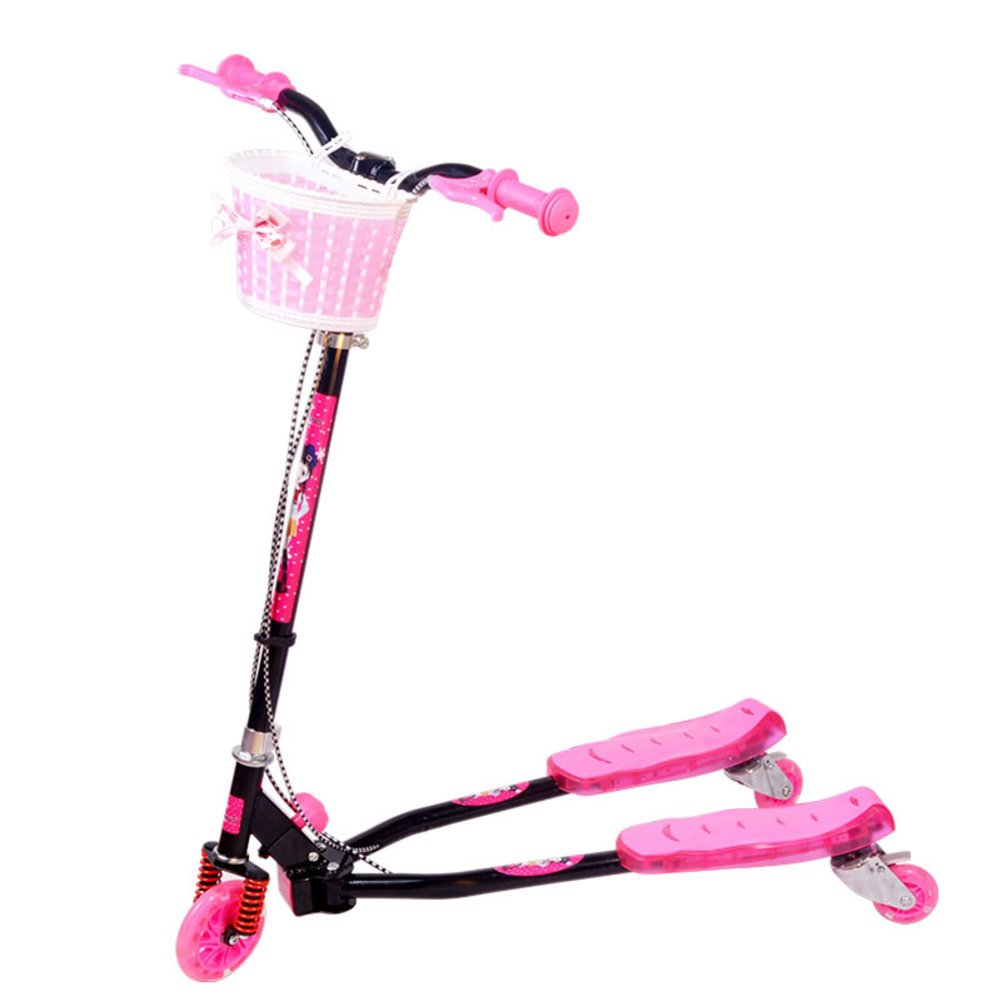Kind Frosch Scooter Flash-Roller  Scooter  Schere-Rosa Rosa