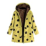 Chaofanjiancai_Coat Big Women Plus Size Hooded Long Sleeve Casual Cotton Linen Fluffy Faux Fur Zipper Coat Outwear