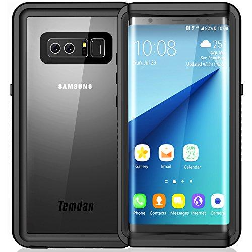 Samsung Galaxy Note 8 Waterproof Case, Temdan UNIQUE Series Shockproof Waterproof Rugged Case with Kickstand Built in Screen Protector Waterproof Case for Samsung Galaxy Note 8