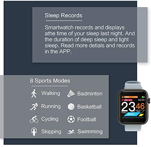 Fitness Tracker Watch Smart Watch for Android Phones Fitness Watches for Men Women Sports Activity Tracker Smartwatch Compatible with iPhone Samsung iOS with Pedometer with Heart Rate Waterproof 51f14QcwLEL
