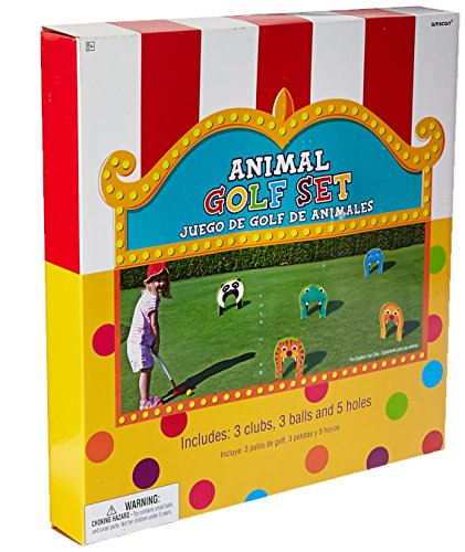 Fun Animal Golf Set Game (Pack of 11), Multicolor, 11 1/2