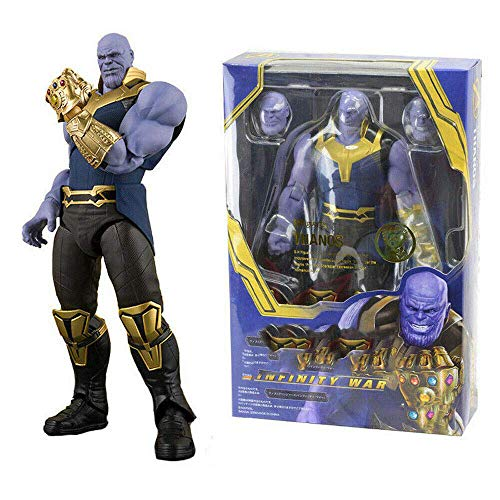 GOODKSSOP Joint Flexible Movable Infinity War Super Hero Thanos Classic Character Thanos Action Figure Model Toy Xmas Gift