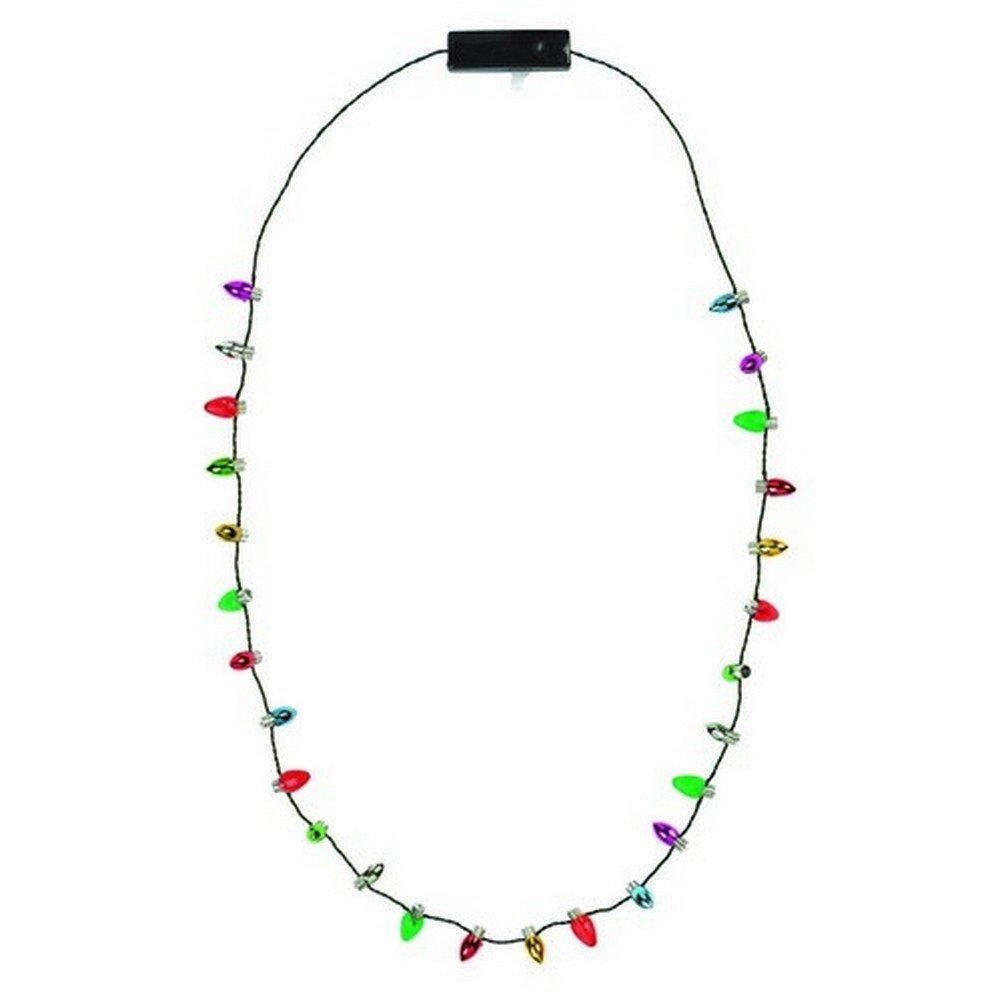 Lotsa Lites Christmas Holiday Flashing Light Bulbs Necklace (2 pack)