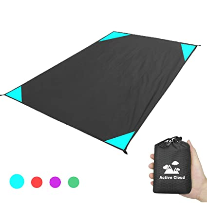 825536dbcf0d Active Cloud Pocket Beach Blanket/Picnic Blanket 79″x67″ Large Size -  Waterproof Ground Cover, Compact Sand Proof Picnic Mat for Camping, Hiking,  ...