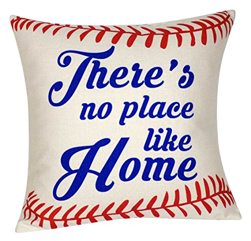 - DECOPOW Baseball Pillow There's No Place Like Home Throw Pillow Cover, Decorative Throw Pillow Case 18