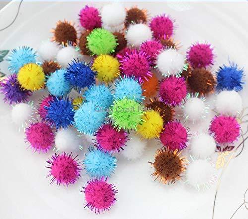 Pompom Yarn Balls 1500pcs Mix Color Pom Pom Ball for Decoration Decor Handmade Project Supply Garland Crochet Decor 20mm