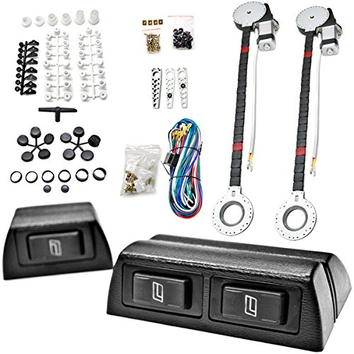 Biltek FULL COMPLETE CAR TRUCK 2 WINDOW AUTOMATIC POWER KIT WITH 3 SWITCHES KIT (Best Power Window Kit)