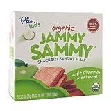 Plum Kids Organic Jammy Sammy Snack Size Sandwich Bar, Apple Cinnamon & Oatmeal 1.03 oz (Pack of 3)