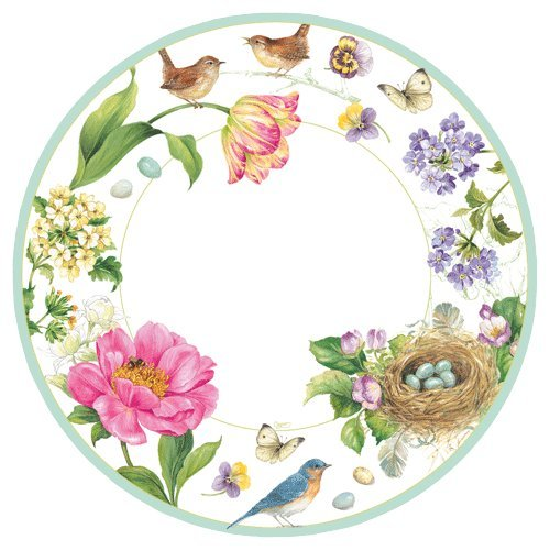 Paper Plates Dinner Plates Party Supplies Spring Sketchbook 10.75