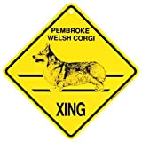 KC Creations Pembroke Welsh Corgi Xing Caution Crossing Sign Dog Gift