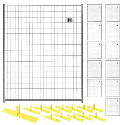 Perimeter Patrol RF 1020 WWP Security Fence Panel Kit 5'W x 6'H Black