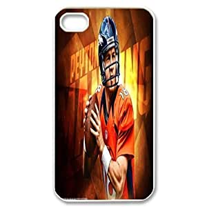 Generic Cell Phone Cases For Iphone 4 4S Cell Phone Design With 2015 NFL #18 Peyton Manning Denver Broncos NFL niy-hc844883