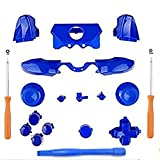 Ekimy Blue Bumpers Buttons Set+T8 Screwdriver T6 Screwdriver for Xbox one controller Buttons set xbox one elte controller screwdriver xbox one elite controller replacement parts