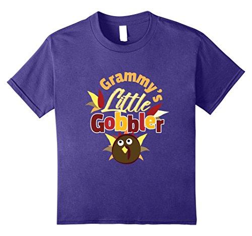Kids Grammys Little Gobbler Cute Thanksgiving Day Wild Turkey 10 Purple