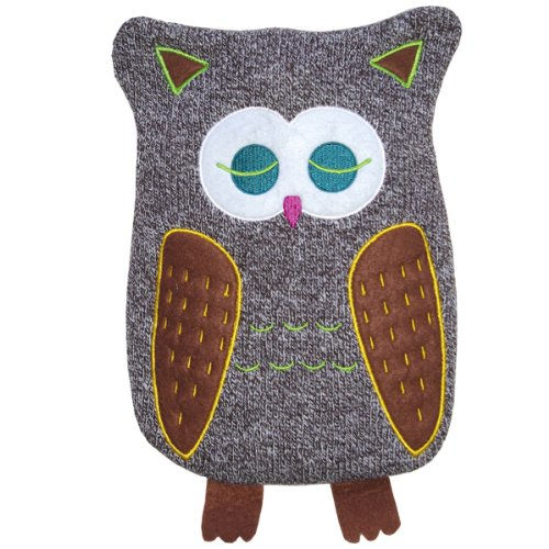 Hugo Frosch 0.8L Kids Cute Owl Hot Water Bottle with Cover Made in Germany by Hugo Frosch