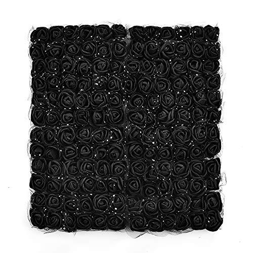 (Artificial Foam Rose Multicolor PE Flowers Head DIY Parts Hair Band Ornaments Wreath Wedding Simulation Garland 144 PCS 2cm)
