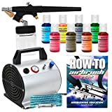 PointZero Cake Airbrush Decorating Kit - Airbrush, Compressor and 8 Chefmaster Colors
