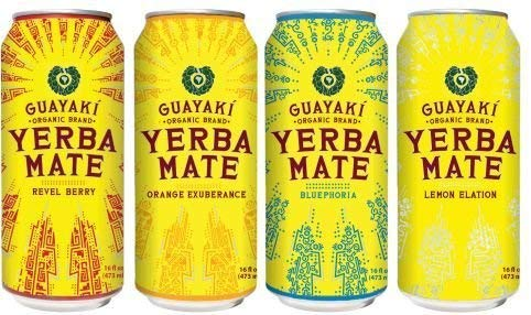 Guayaki Variety Pack - Lemon, Orange, Revel Berry, Bluephoria (Pack of 16)