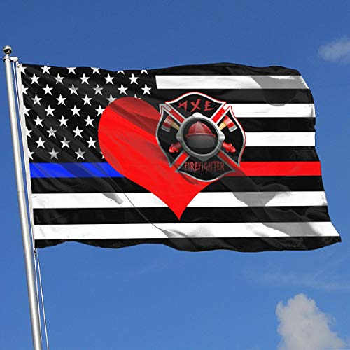 QphonesFlag Love Axe Firefighter Flag 3x5-Flags 90x150CM-Banner 3'x5' FT