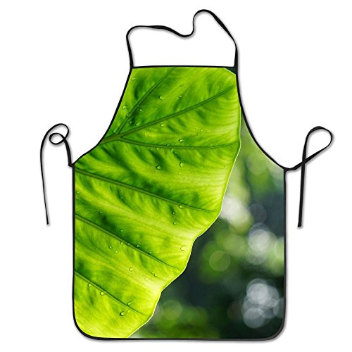 Leaves Green Nature Deluxe Aprons Personalized Printing Kitchen Apron