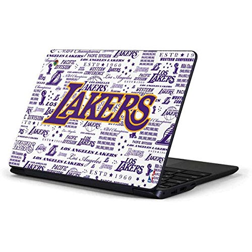 Skinit LA Lakers Historic Blast Chromebook 3 11.6in 500c13-k01 Skin - Officially Licensed NBA Laptop Decal - Ultra Thin, Lightweight Vinyl Decal Protection