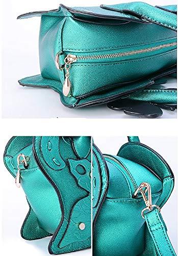 Yyddt Pu 3d Bolsa Hombro Personalidad Bolso Mujer Green Correa De Crossbody Ajustable Impresión Desmontable Mariposa Cuero 4Sxr4qEv