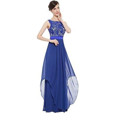 Damen Spitzekleid Langkleid Abendkleid Cocktailkleid Ballkleid Chiffonrock