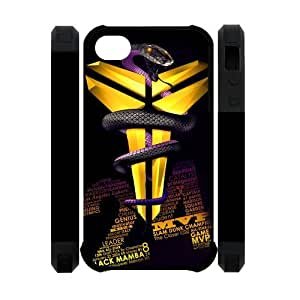 Coolest Los Angeles Lakers Kobe Bryant Apple Iphone 4S/4 Case Cover Dual Protective Polymer Cases #24 Logo Peter Pan Black Mamba VINO Rattlesnake by ruishername