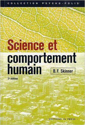 En ligne téléchargement gratuit Science et comportement humain pdf, epub