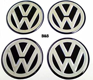 Image Unavailable. Image not available for. Colour: VW Sticker for Wheel Rims and Hub Caps ...