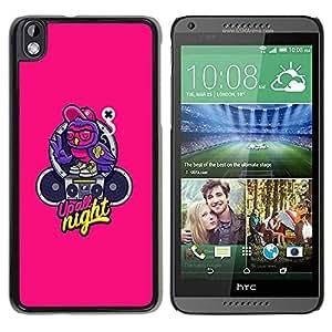 Be Good Phone Accessory // Dura Cáscara cubierta Protectora Caso Carcasa Funda de Protección para HTC DESIRE 816 // Music Text Graffiti Speaker