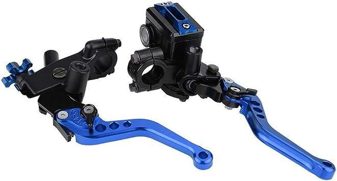 Ebtools 1 Paar 22mm Kupplungs Und Bremshebel Hauptbremszylinder Hebel Universal Motorrad Bremse Kupplungszylinder Hauptbremszylinder Blau Auto