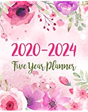 2020-2024 Five Year Planner: 5 Year Monthly Planner Schedule Organizer   To Do List Academic Schedule Agenda Logbook Or Student Teacher Organizer Journal Notebook Business Appointment W/ Holidays   Pink Floral Watercolor