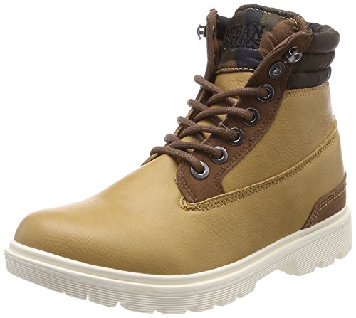 Urban Classics Herren Winter Boots Chukka Braun (Beige/Woodcamo)