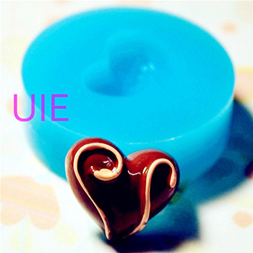 (041LBG Heart Chocolate /Truffle/ Bon Bon Silicone Flexible Push Mold, Miniature Food Sweets Charms (Clay Fimo Gum Paste Fondant))