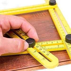 Angleizer Template Tool, Kozy Life Multi-Angle Measuring Template Rule for Handymen Builders Craftsmen